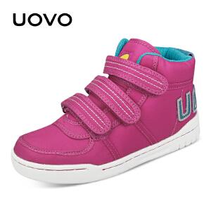 UOVO新款童鞋男童鞋女童鞋时尚潮流欧美休闲中邦运动鞋搭扣棉鞋休闲鞋儿童童鞋 地图1