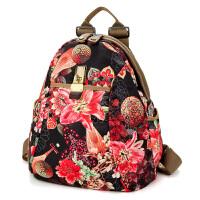 2018夏季新款牛津布双肩包两用女包大容量女士旅行背包帆布学生包