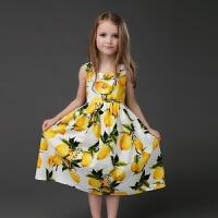 2018夏新款女童吊带背心裙沙滩长裙儿童公主裙宝宝裙亲子装母女装