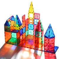 科博彩窗磁力片 儿童磁性积木玩具磁铁男女孩拼装益智3-6-8岁