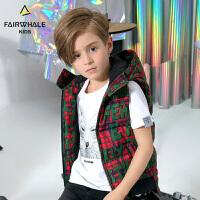 马克华菲童装羽绒马甲冬季新款儿童保暖加厚外套韩版洋气潮