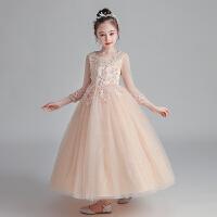 儿童礼服裙小女孩蓬蓬纱花童婚纱公主裙主持人女童钢琴演出服