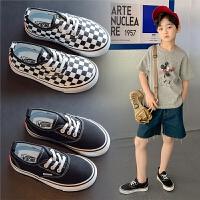男童帆布鞋夏季儿童一脚蹬布鞋女童板鞋小男孩童鞋