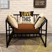 服装店沙发简约现代个性店面工业风铁艺工作室茶几小户型店铺用椅定制 组合