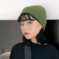 帽子 女士简约针织帽2020冬季新款女式休闲套头帽学生户外保暖毛线帽帽子