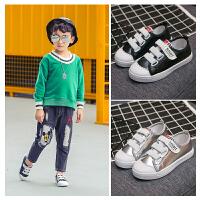 儿童帆布鞋童鞋男童板鞋女童布鞋中大童宝宝运动休闲鞋
