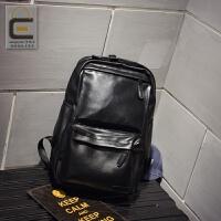休闲双肩包男士背包韩版时尚潮流学生书包皮运动旅行电脑男包潮包