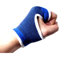 劲运动护具哑铃杠铃运动手套护手护掌护腕 蓝色 均码