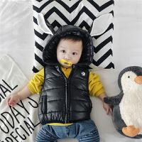 新款婴儿马甲冬季3外套6背心9拉链连帽外出服男女宝宝夹棉0-1岁潮