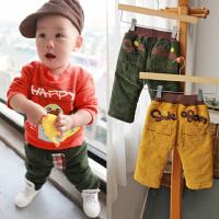 *儿童装男童夹棉加厚长裤子冬装新款棉裤0-4岁