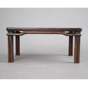 C719民国《草花梨砚床》(明式小桌造型,案上佳品,包浆丰润,保存完好,配有精致锦盒)