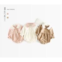 春秋冬婴儿长袖连体衣女宝宝包屁衣婴幼儿三角哈衣0新生儿衣服1岁