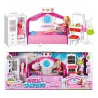 乐吉儿芭比娃娃礼盒玩具 芭比公主系列 益智梦幻房间衣橱 女孩过家家玩具A001