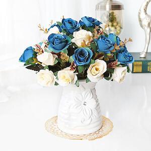 仿真花套装 办公室水仙干花花艺盆栽假花绢花客厅餐桌摆设花卉家居装饰塑料花艺摆件