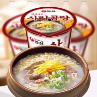 【包邮】韩国进口 农心骨汤面小杯面 方便面泡面 61g*5杯