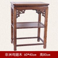 中式多层花架客厅花盆景置物架鱼缸石头桌子原木实木花架