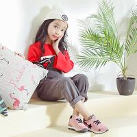 春秋男童运动鞋轻便运动休闲跑步鞋舒适大中女童鞋