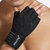 健身手套女男夏季器械训练半指运动护腕防滑透气撸铁单杠引体向上手套