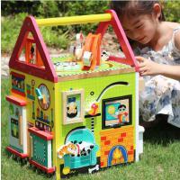 美国alex木质动物园儿童串珠绕珠 百宝箱 早教益智玩具1-3岁
