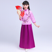 小孩女孩旗袍公主裙套装夏装儿童装民国风唐装裙子女童演出表演服