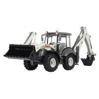 工程车挖土机挖掘机仿真儿童车模合金模型双向铲车玩具