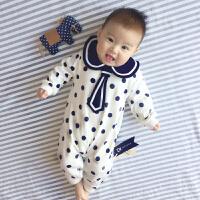 婴儿连体衣服宝宝新生儿冬季0岁3月季满月春装婴儿衣服新年