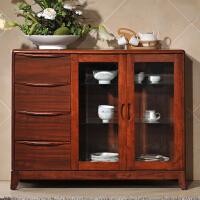 御品工匠 现代中式 实木餐边柜 橡木餐柜 1.2米碗柜橱柜 储物柜K0812