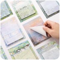 可爱少女创意便利贴网红卡通学生用韩国ins粘性强便签纸文具用品
