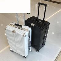 同款复古铝框拉杆箱万向轮箱子旅行箱行李箱密码箱26寸28男女 镜面款 20寸