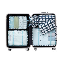 旅行收纳套装男女洗漱包衣物整理袋行李箱内衣收纳袋