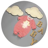 宝宝衣服春秋新生儿连体衣纯棉0-3个月男女婴儿爬爬服6-9月哈衣潮