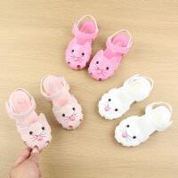 女童鞋包头凉鞋夏儿童1-3岁软底小孩宝宝公主鞋