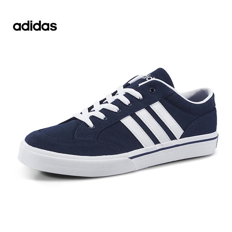 Adidas/阿迪达斯GVP 2017新款深蓝色低帮帆布鞋轻便透气休闲板鞋情侣款AW5080*赔十