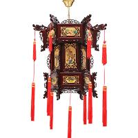 新年宫灯灯笼挂饰仿古中式羊皮阳台茶楼结婚大红灯笼灯吊灯中国风