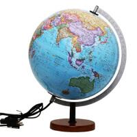 博目地球仪 贝斯马克:30cm中英文政区灯光立体地球仪