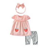 女童套装夏薄款公主婴儿裙子两件套女宝宝夏装
