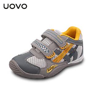 UOVO2017新款童鞋男女童鞋休闲鞋运动轻便透气魔术童鞋 赛道