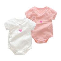 婴儿连体衣服宝宝新生儿3季爬爬服1岁2个月款短袖三角哈衣