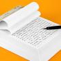 广博16K30张加厚大方格文稿纸双线报告练字本书法练习本GB16217