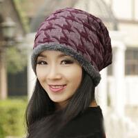 帽子女秋冬套头月子帽时尚韩版产后孕妇帽韩国潮化疗头巾帽护耳堆堆帽