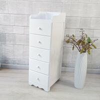 欧式小床头柜迷你夹缝收纳柜实木边柜小斗柜白色柜卧室小柜子窄柜
