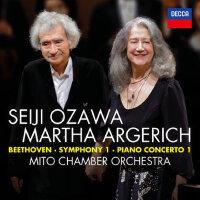 贝多芬 第一交响曲和第一钢琴协奏曲CD 阿格里奇小泽征尔 4832566