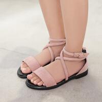 女童凉鞋儿童公主鞋夏季学生凉鞋女中大童平底宝宝鞋
