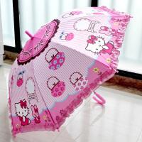 儿童大雨伞男女童自动伞KT猫米老鼠白雪公主小学生长柄晴雨伞