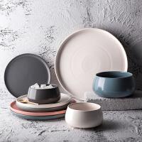 奇居良品 现代简约餐具 安可陶瓷碗盘西餐牛排盘钵体米饭碗早餐盘