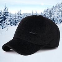 冬季帽子男韩版秋冬天棒球帽男加厚保暖鸭舌帽加绒护耳帽运动帽