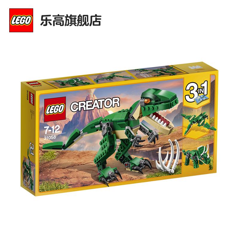 【当当自营】乐高(LEGO)积木 创意百变组Creator 玩具礼物7-12岁 凶猛霸王龙 31058 【实力宠粉 乐享好价】创意百变3in1,拼搭多种恐龙!