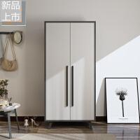 北欧格调卧室衣柜经济型两门组装衣橱简约现代小户型双门整体衣柜定制 2门