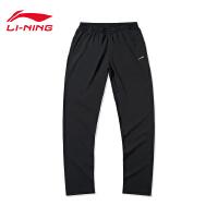 李宁运动裤女士运动生活系列春季女装裤子休闲平口运动长裤