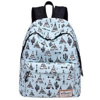 韩版潮小清新可爱校园女双肩包 时尚书包女帆布防水 大学生百搭背包旅行包